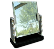 Revolving Glass Mirror - Avail In Gold Or Silver