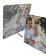 Glass Photo Tile With Metal Foot - 180 X 230mm