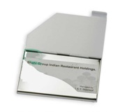Business Card Holder - With Sublimateable Cover - Cut Off Corner