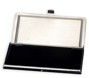 Business Card Holder - Stainless Steel - With Sublimateable Rect