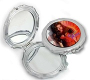Compact Mirror (Sunburst Shape) With Round Printable Outer Surfa