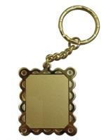 Gold Picture Frame Shaped Pendant Keyring - Limited Edition
