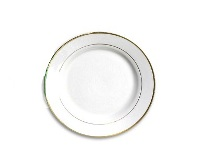 Coated Gold Rim Side Plates - Includes Plate Stand