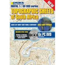 Topographic Dvd Of South Africa