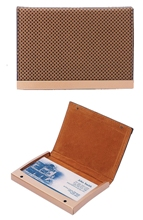 Business card holder-brown
