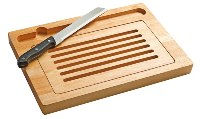Dual Cutting  Board With Knife