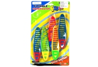Toy 5 Pcs Soft Pvc Dive Twisted Stick - Min Order - 10 Units