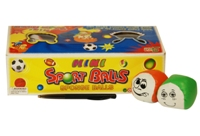Toy Sports Balls With Faces -15 Per Box - Min Order - 10 Units