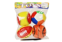 Toy 4pc 5inch Soft Ball - Medium - Min Order - 10 Units