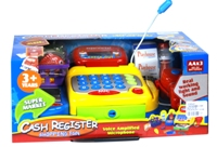 Toy Ash Register Set W/Music&Light In W/B - Min Order - 10 Units