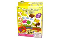 Toy 18pc Learn & Play Sponge Paint Set Hanger Box - Min Order -
