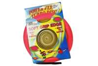 Toy 10inch  Soft Grip Edge Frisbee  3 Assorted Colors - Min Orde