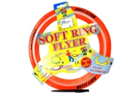 Toy 28.5Cm Soft Ring Flyer 4 Assorted (Frisbee) - Min Order - 10