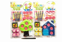 Toy 2 Assorted House/Tree Stamp Play Set - Min Order - 10 Units