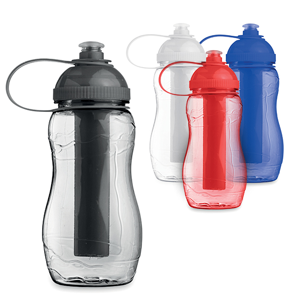 400ml plastic waterbottle with freezable ice stick