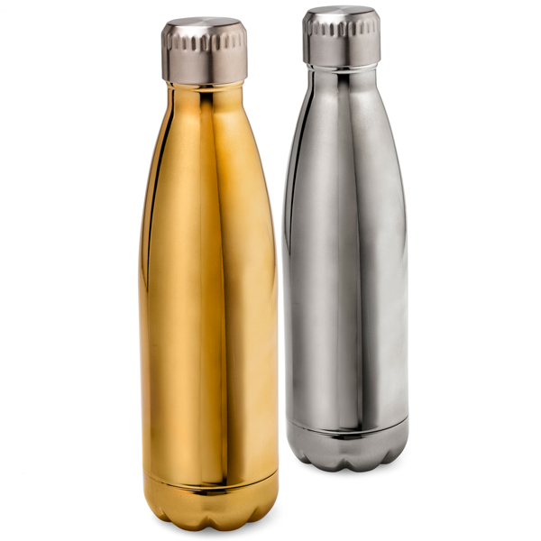 500ml Stainless Steel Bottle. Avil in Gold or Silver