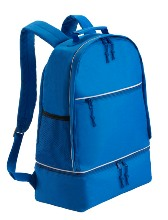 Sports Backpack with Zipper Shoe Bag Bk  - Available in: Black,