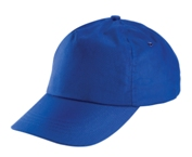 5 Panel Cotton Cap - Royal blue