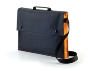 Two Tone Document Bag - Orange