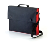 Two Tone Document Bag - Red