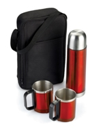 Amazon Stainless Steel Flask Set - Red