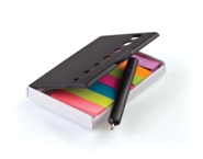 Sticky Note Holder with Mini Pen-Black