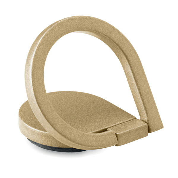 Phone holder with ring in matt zinc alloy