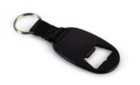 Bottle Opener Keyring - Black