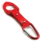 Carabiner Bottle Holder - Red