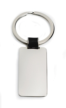 Colour Link Rectangle Keyring - Available in Black, Blue, Green,