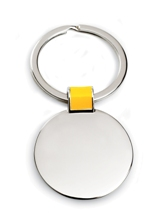 Colour Link Round Keyring - Available in Black, Blue, Green, Yel