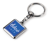 Squared Dome Keyring