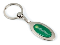 Oval Double Dome Keyring
