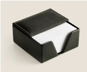 Leather Memo Paper Holder