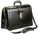 Leather Laptop Briefcase - Available in various colours