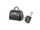 Double Decker Leather trolley Bag - Available in various colours