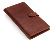 Leather travel Wallet - Brown