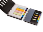 Spiral Notebook with sticky notes & flags  - Available in variou