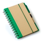A5 Eco Recycled Notebook-Green