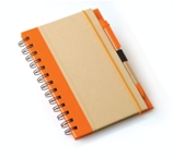 A5 Eco Recycled Notebook-Orange