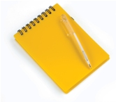 Mini Notebook with Pen-Yellow