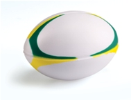 Fan Bottle Rugby Stress Ball-Green/Yello