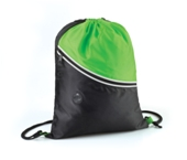 Two Tone Drawstring Backpack-Lime