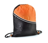 Two Tone Drawstring Backpack-Orange