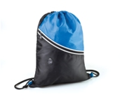 Two Tone Drawstring Backpack-Royal Blue