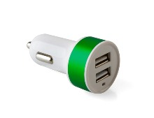 Car Charger - Available in: Black, Blue, Green, Red or Silver