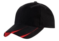 6 Panel Heavy Brushed V-Slit-Black/Red