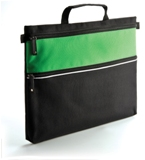 Two Zip Document Carry Bag - Lime