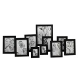 Photo Frame Set - Black 10 Pcs