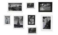 Photo Frame Set - Black & White 10 Pcs